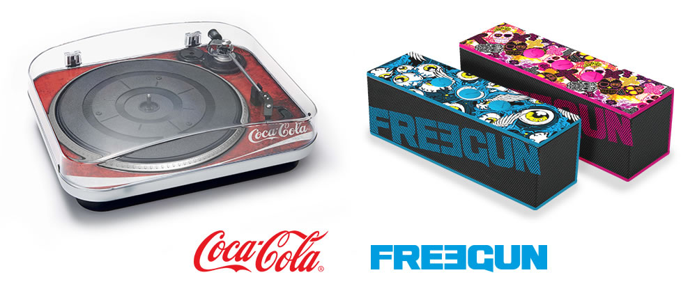 Bigben - Audio range, licenced Coca-Cola & Freegun
