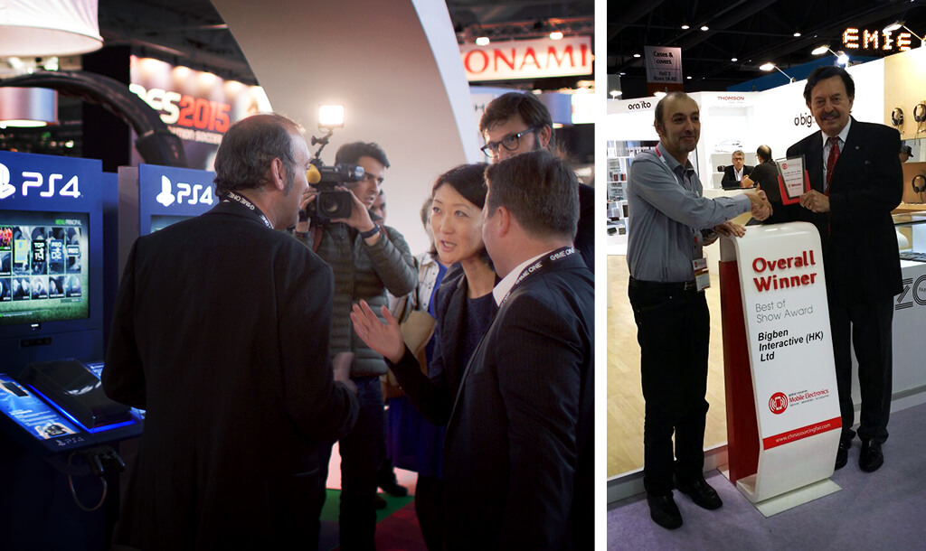 Bigben Group - Fairs - Paris Games Week 2014 with the French Secretary of State for Culture, Media, and Sport Fleur Pellerin / Best of Show Award in Honk Kong Mobile Electronic Fair 2014